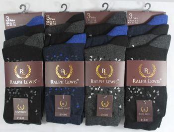 RL0024, Mens design socks £3.75 per dozen, 10 dozen....
