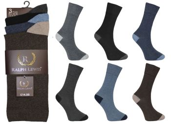 RL0026, Mens heel & toe design socks £3.75 per dozen, 10 dozen....