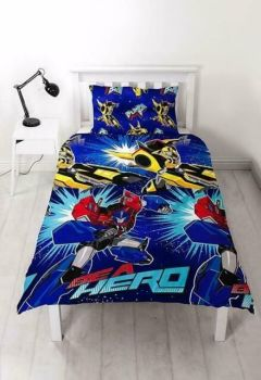 """*V092, Official Transformers """"Hero"""" Reversible Single Duvet Cover Set £7.95.  pk3.."""