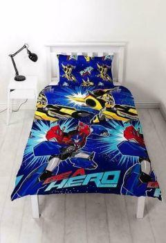"""**V092, Official Transformers """"Hero"""" Reversible Single Duvet Cover Set £7.80. pk6.."""