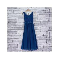756NAVY, Girls maxi dress with satin bow sash £6.50.  pk5...