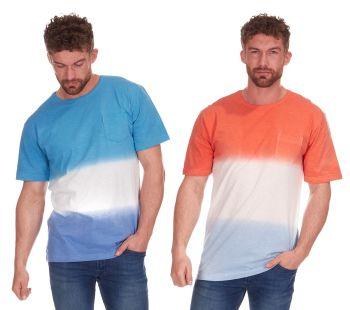 *21A1113, Mens Dip Dye T shirt £2.00.  pk36...