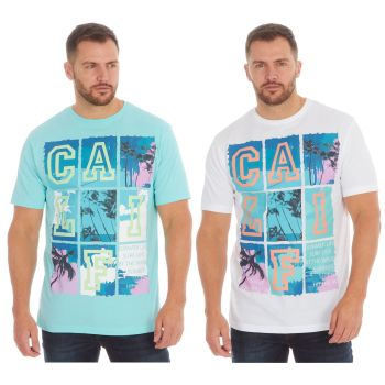 *21A1435, Mens Printed T shirt With Detail As Shown £2.25.  pk48...
