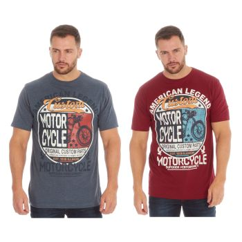 *21A1437, Mens Printed T shirt With Detail As Shown £2.25.  pk48...