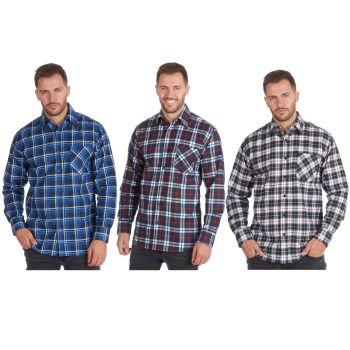 *23A273, Mens Printed Check Flannel Shirt £4.95.  pk36...