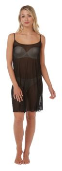"IN21292, ""Indigo Sky"" Ladies Short Chemise- Black £3.00.  pk2.."