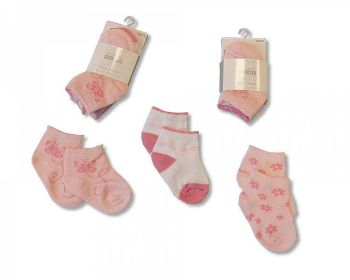 BW2100, Baby girls 3 in a pack socks £1.30.  8pks...