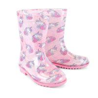 FT1717, Kids Unicorn Wellington Boots £4.70.  pk18....