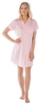 "IN20688, ""Indigo Sky"" Ladies Satin Nightshirt- Pink £4.25.   pk2..."