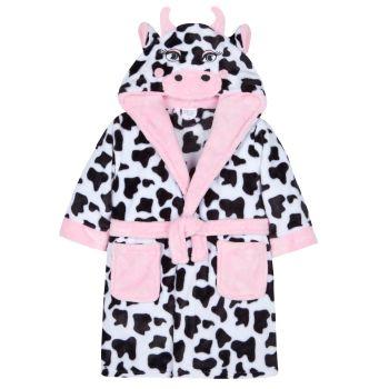 "18C461, ""Mini Kidz"" Brand Infant Girls Novelty Dressing Gown-  Cow £7.65.  pk12.."