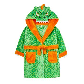 """18C523, """"Mini Kidz"""" Brand Infant Novelty Dressing Gown- Dinosaur £9.00.  pk12.."""