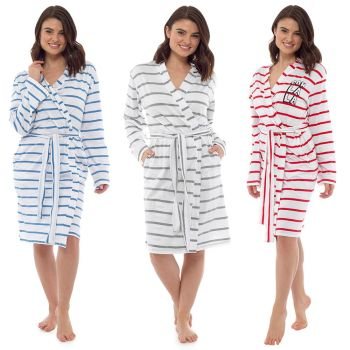 *LN947, Ladies Striped Gown With Printed Back £6.50.  pk24...