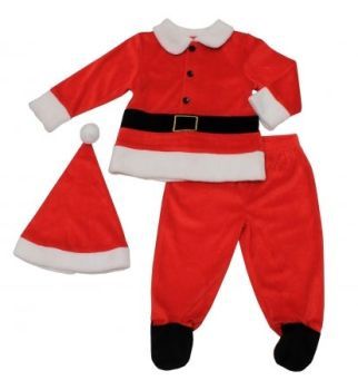 JTC704, Boys 3 Pc Velour Santa Set £5.00.  pk12...