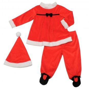 JTC705, Girls 3 Pc Velour Santa Set £5.00.  pk12...