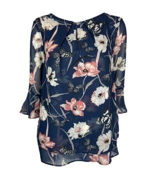 *LTP0424, Ex M-S Ladies 3/4 Sleeve Floral Printed Top £3.00.  pk24...