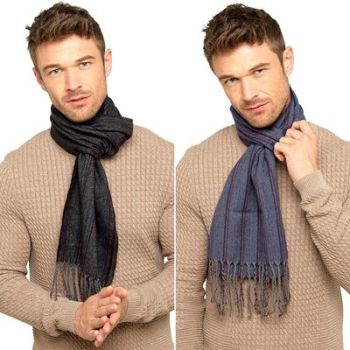 *GL344A, Mens Woven Striped Scarf £2.10.  pk12....