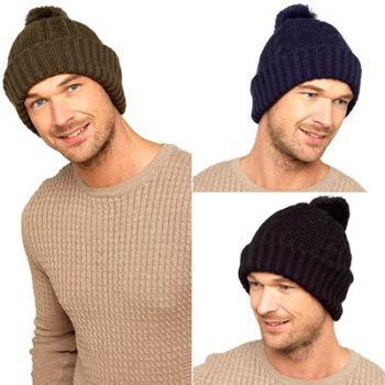 GL630, Mens Hat with Pom Pom £1.95.   pk12...