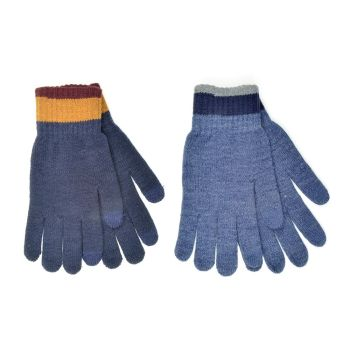 GL631, Mens Touch Screen Gloves With Striped Cuff £0.85.   pk12....