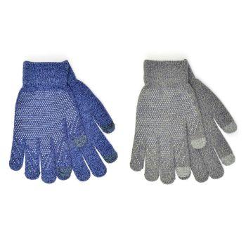 GL632, Mens Marl Touchscreen Gripper Gloves £0.75.   pk12...