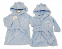 BIS2346, Baby Hooded Bathrobe - Sky £4.75.  PK6...
