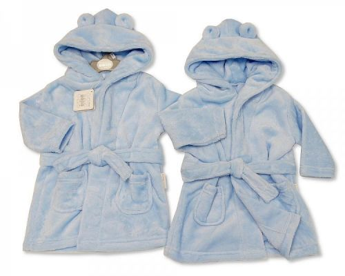 BIS2346, Baby Hooded Bathrobe - Sky £4.75.  PK6...