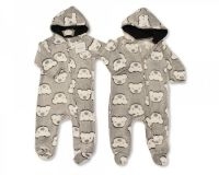BIS2343, Baby Hooded All in One - Teddy £3.50.  PK6...