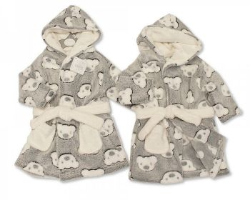 BIS2342, Baby Hooded Bathrobe - Teddy £4.95.    PK6...