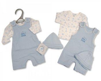 PB350, Premature Baby Boys 2 Pieces Set with Hat - Little Love £6.50.  PK6...