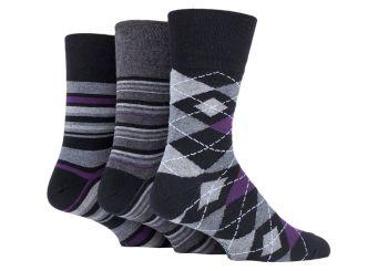 """SOMRJ580, Mens """"Gentle Grip"""" design socks.  1 dozen.."""