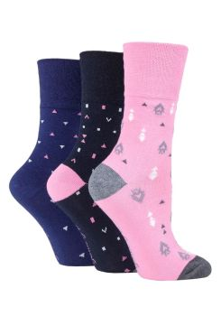 "SOLRH205, Ladies ""Gentle Grip"" design socks.  1 dozen..."