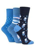 """SOLRH207, Ladies """"Gentle Grip"""" design socks.  1 dozen..."""