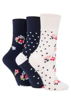 "SOLRH209, Ladies ""Gentle Grip"" design socks.  1 dozen..."