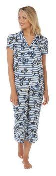 "IN21343S, ""Indigo Sky"" Ladies 3/4 Woven Pyjama- Striped £6.75.   pk2......"