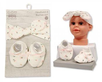 GP1023, Baby Headband and Booties Set £3.95.  PK6...