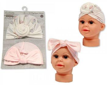 GP1020, Baby Turban Hats - Pack of Two £2.95.  6PKS...