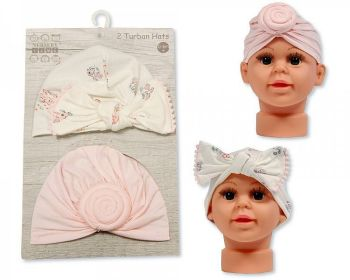 GP1019, Baby Turban Hats - Pack of Two £2.95.  6PKS...