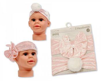 GP1018, Baby Headbands - Pack of Two - Bow/ Pom Pom £2.95.   6PKS...