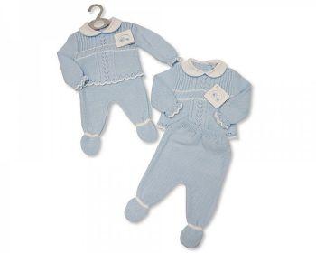 BW1072, Knitted Baby Boys 2 Piece Pram Set £9.80.  PK6...