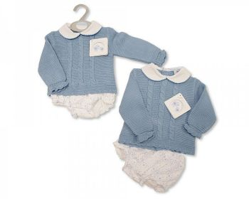 BW1066, Knitted/Woven Baby 2 Pieces Set £10.40.  PK6...