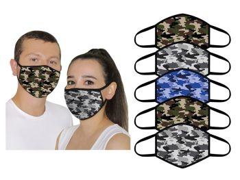 FM925, Adults 5pk Face Masks- Camo £2.00. 10pks....