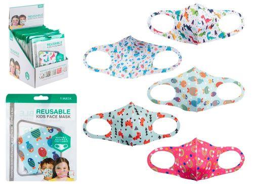 Code:755034, Reusable Stretchable Kids Face Mask £0.80.   pk60...