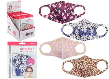 Code:755035, Reusable Stretchable Ladies Face Mask £0.80.   pk20...