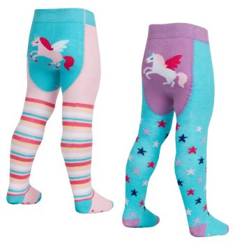 45B145, Baby cotton rich patch panel design tights with grippers £1.35.  pk16...