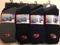 BB101, Mens dark assorted thermal socks.  1 dozen..