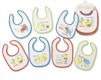 BW764, Baby Days of the Week 7PK Bibs - Boys - Farmyard £2.35.  6PKS...