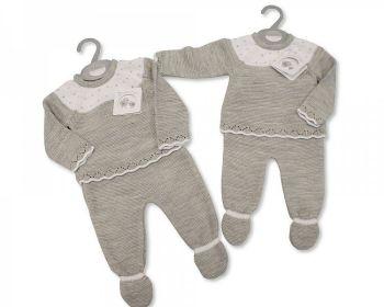 BW1075, Knitted Baby 2 Piece Pram Set £8.95.  PK6...