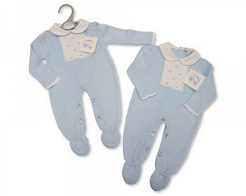 BW1068, Long Knitted Baby Boys Romper £10.40.  PK6...