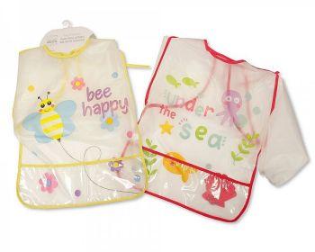 BW822, Baby PEVA Painting Bibs with Sleeves - Girls £1.75.  PK12...