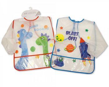 BW821, Baby PEVA Painting Bibs with Sleeves - Boys £1.75.  PK12...
