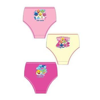 """Code:33252, Official """"Baby Shark"""" girls 3 in a pack briefs £1.80. 18pks.."""